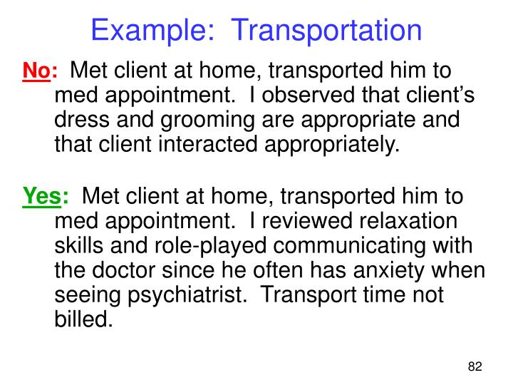 Example:  Transportation