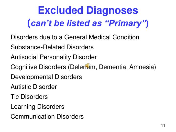 Excluded Diagnoses