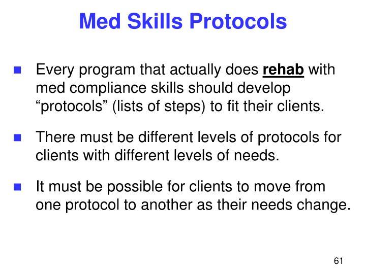 Med Skills Protocols