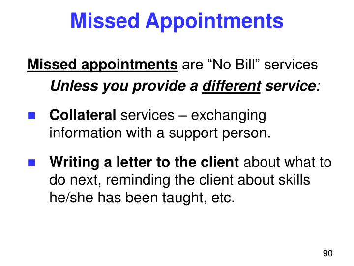Missed Appointments