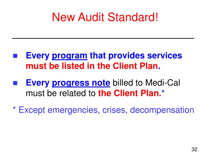 New Audit Standard!