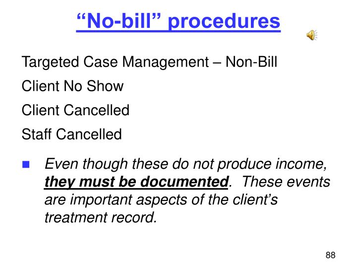 """No-bill"" procedures"
