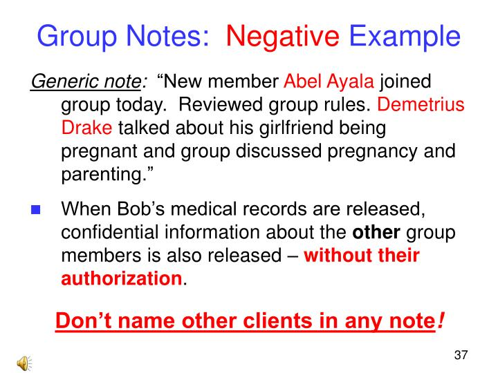 Group Notes: