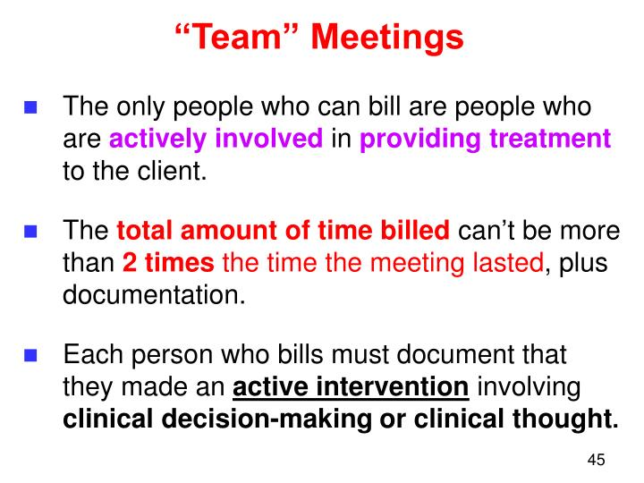 """Team"" Meetings"
