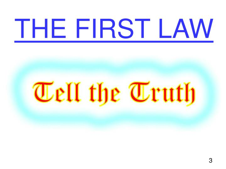 The first law