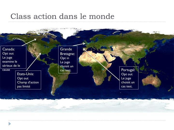 Class action dans le monde