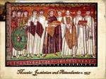 mosaic justinian and attendants c 547