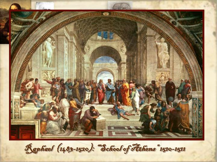 "Raphael  (1483-1520): ""School of Athens"" 1510-1511"