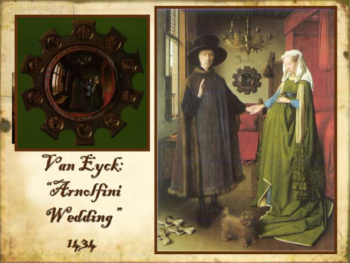 """Van Eyck: """"Arnolfini Wedding"""""""
