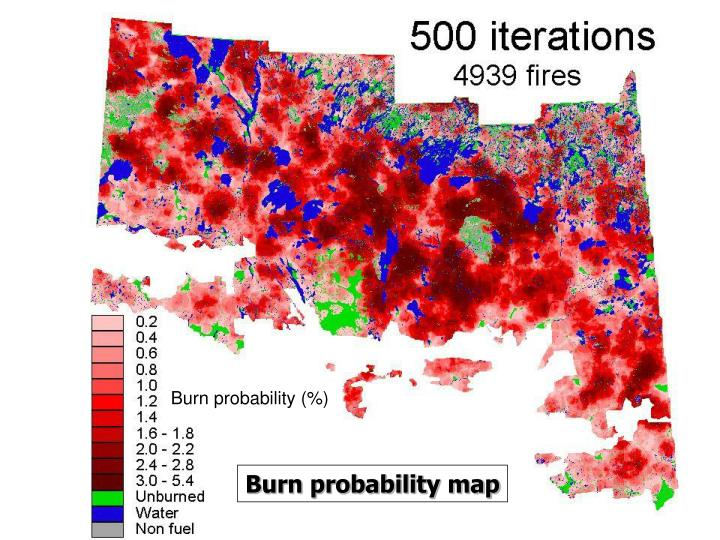 Burn probability (%)