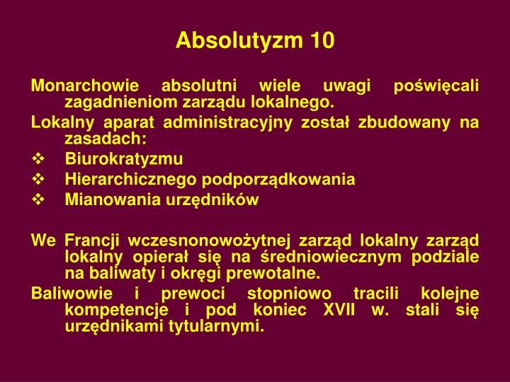 Absolutyzm 10