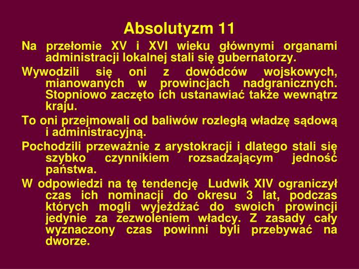 Absolutyzm 11