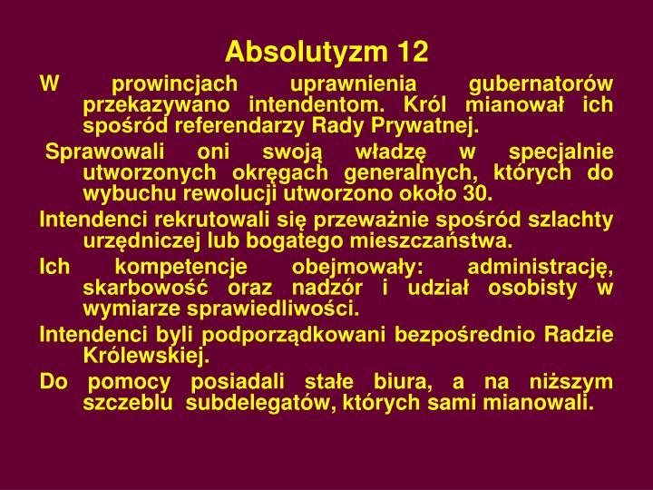 Absolutyzm 12