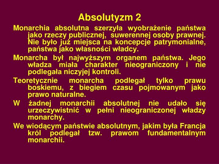 Absolutyzm 2