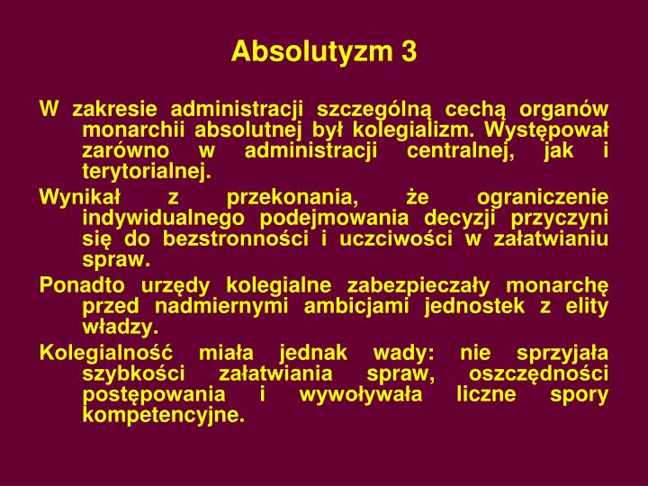 Absolutyzm 3