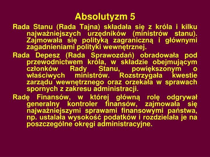 Absolutyzm 5