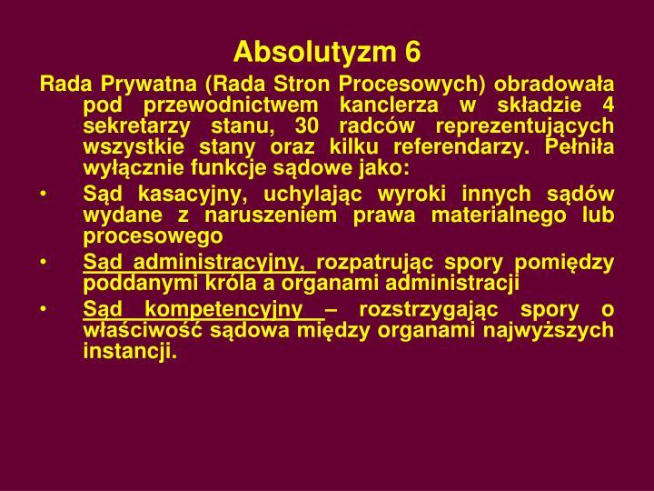 Absolutyzm 6