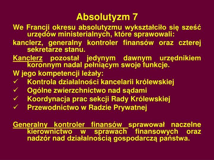 Absolutyzm 7