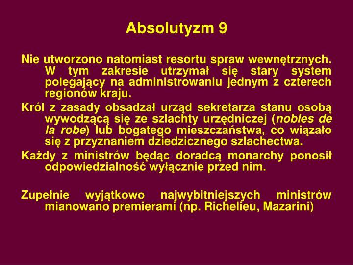 Absolutyzm 9