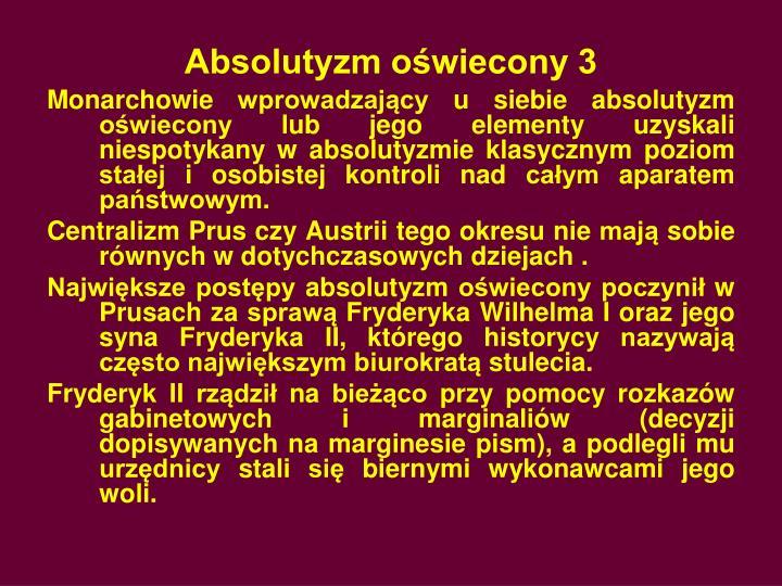Absolutyzm oświecony 3