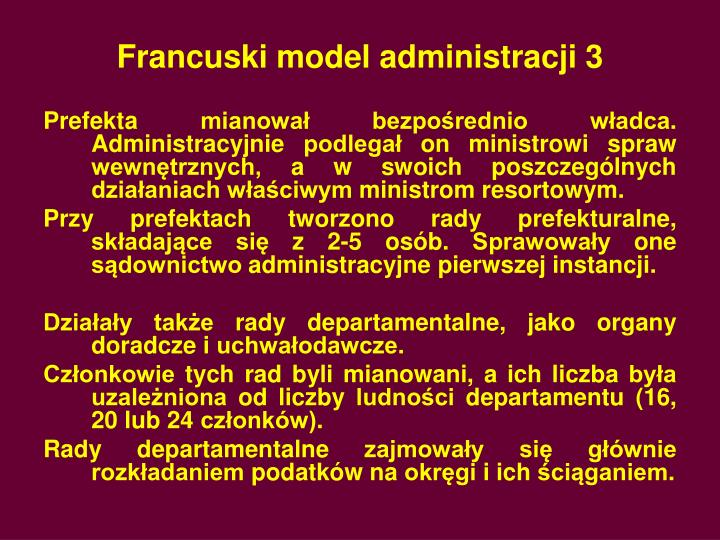 Francuski model administracji 3