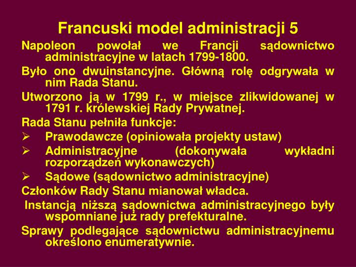 Francuski model administracji 5