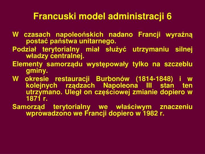 Francuski model administracji 6