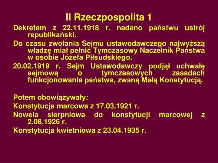 II Rzeczpospolita 1
