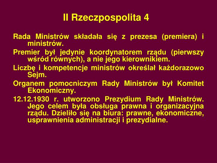 II Rzeczpospolita 4