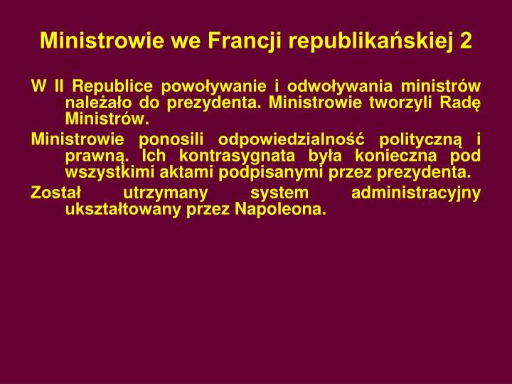 Ministrowie we Francji republikańskiej 2