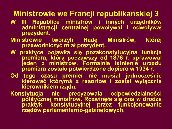 Ministrowie we Francji republikańskiej 3