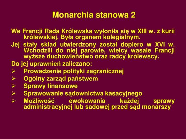 Monarchia stanowa 2