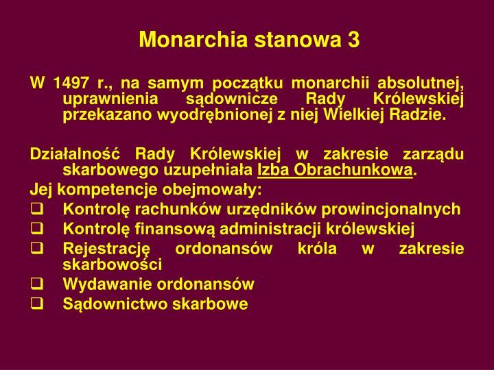 Monarchia stanowa 3