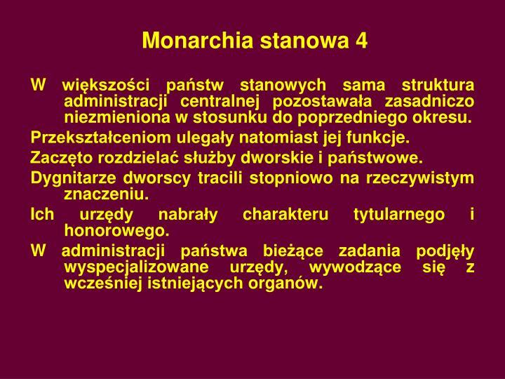 Monarchia stanowa 4
