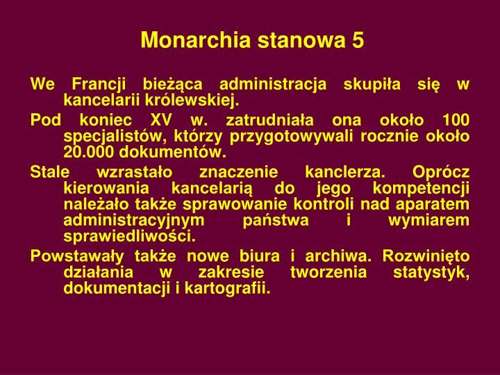 Monarchia stanowa 5