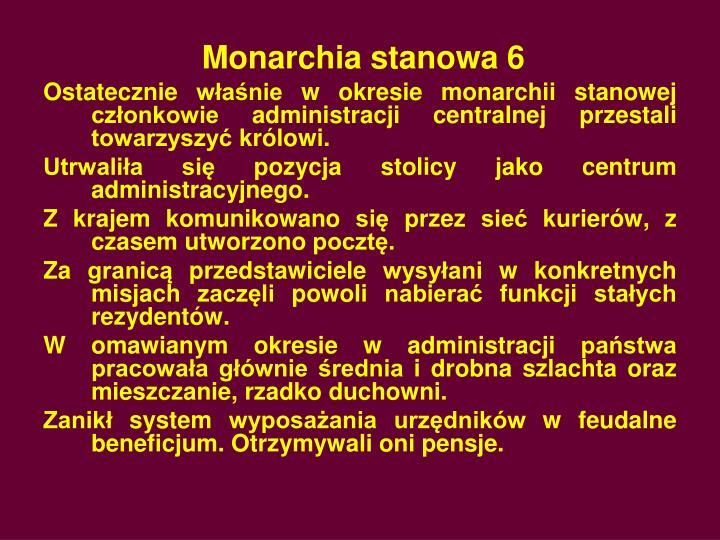 Monarchia stanowa 6