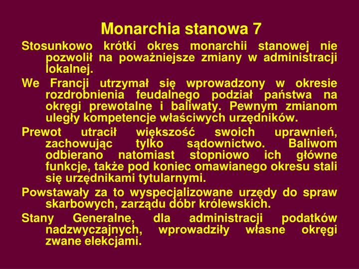 Monarchia stanowa 7