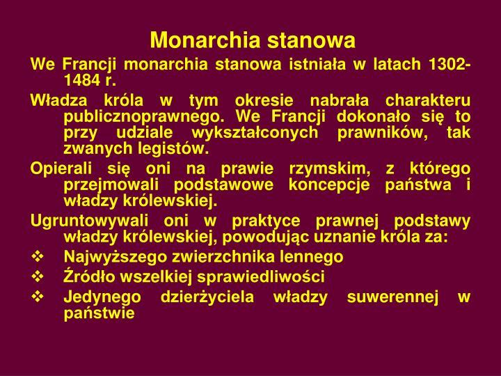 Monarchia stanowa