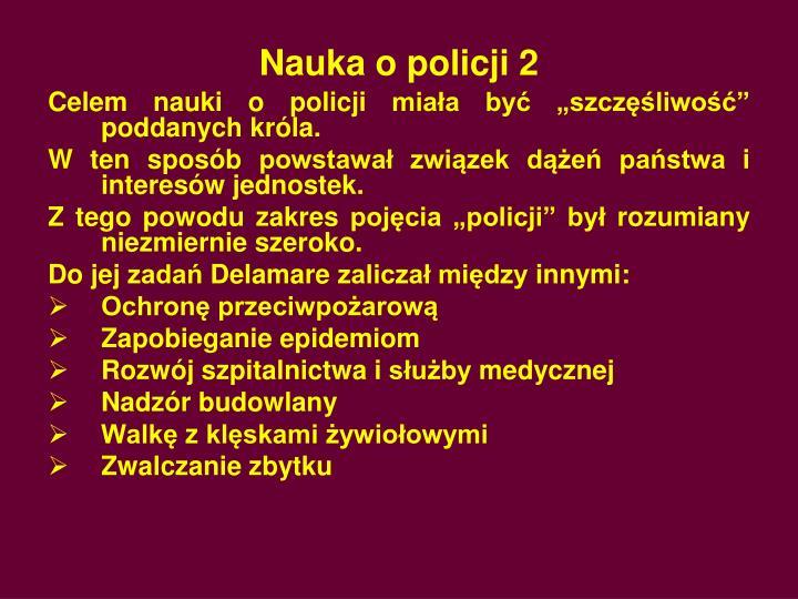 Nauka o policji 2
