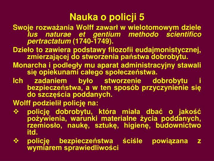 Nauka o policji 5