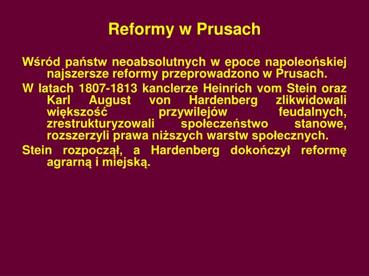 Reformy w Prusach