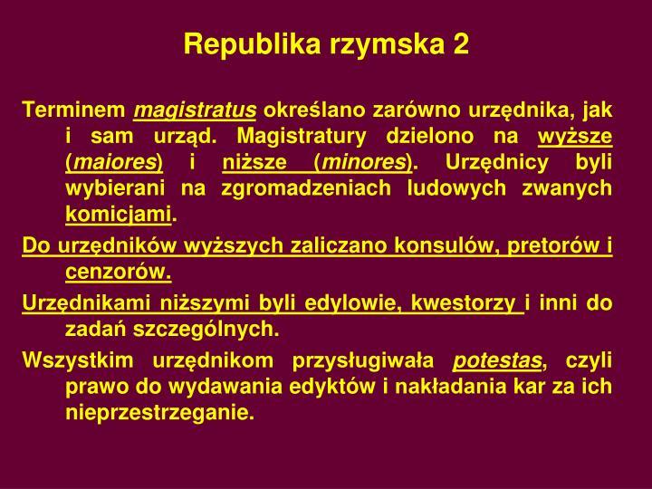Republika rzymska 2