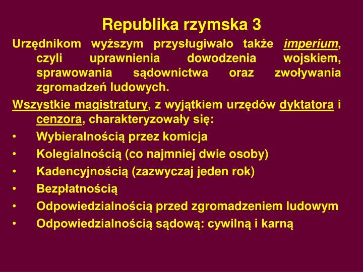 Republika rzymska 3