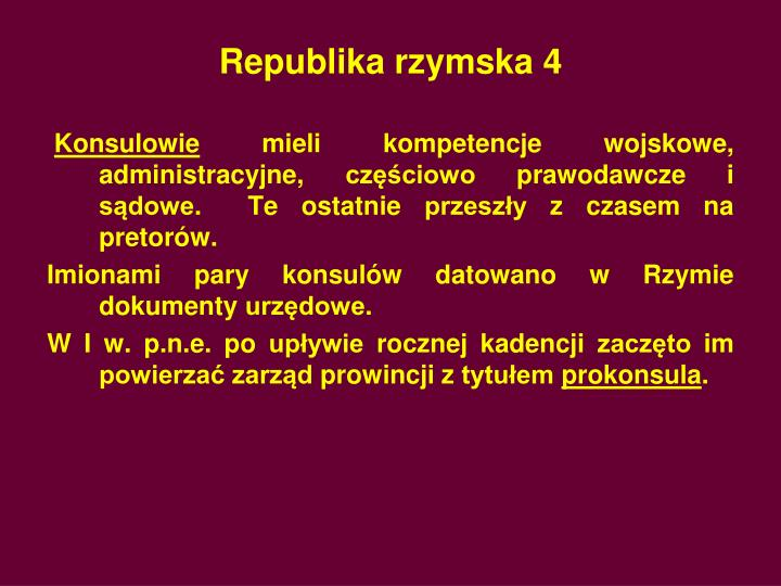 Republika rzymska 4
