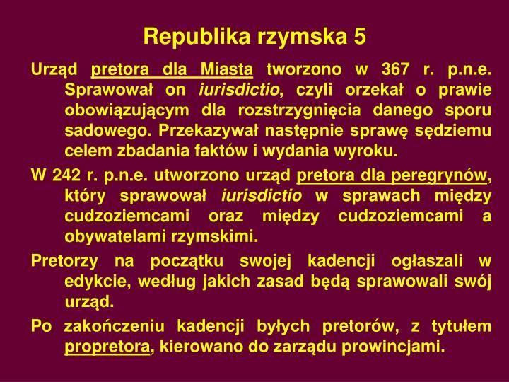Republika rzymska 5
