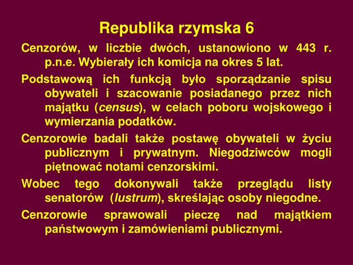 Republika rzymska 6