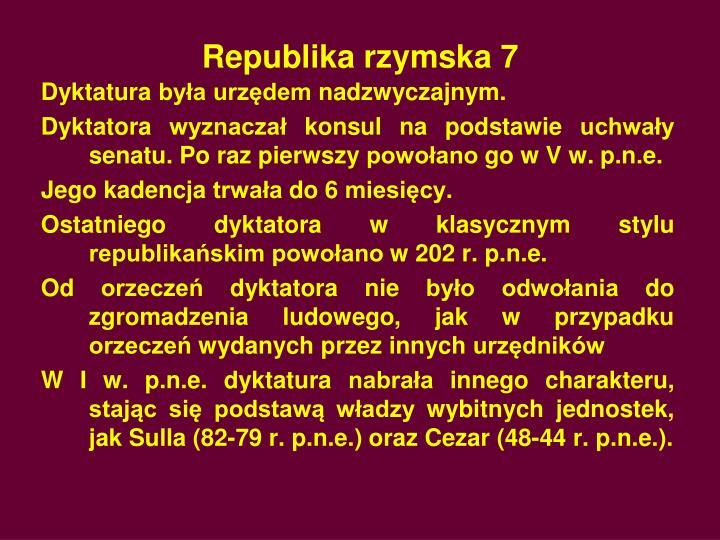 Republika rzymska 7