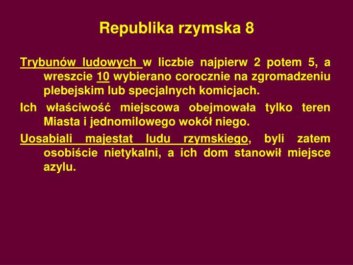 Republika rzymska 8