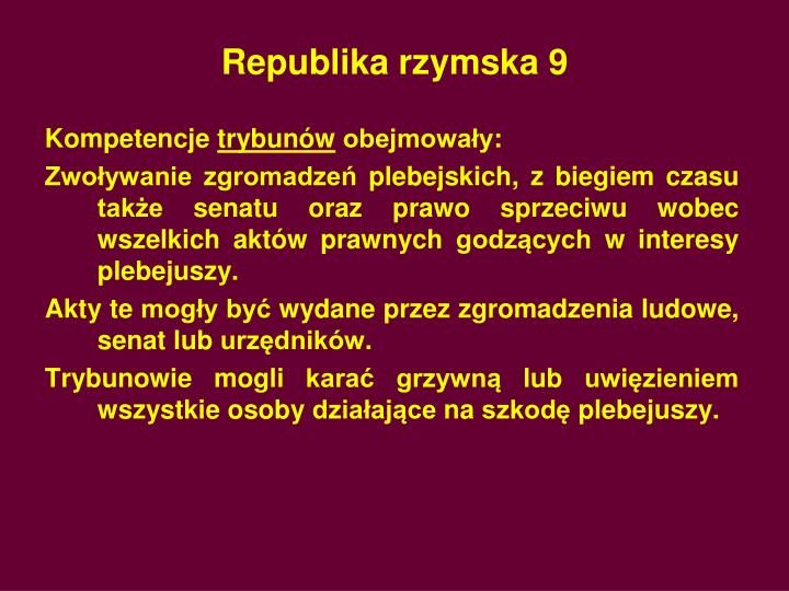 Republika rzymska 9