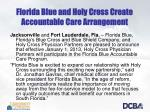 florida blue and holy cross create accountable care arrangement